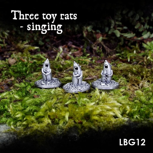 LBG12 Three toy rats - singing