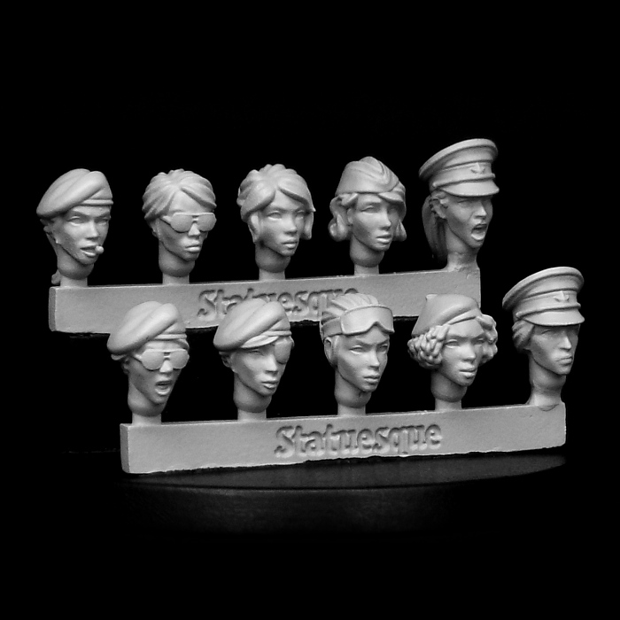 SMA354 Heroic Scale Female Heads SMALL - Veterans